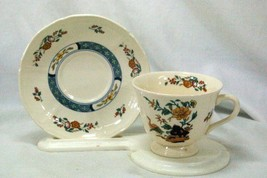 Wedgwood 1988 Chinese Teal Cup And Saucer Set - $9.69