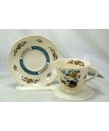 Wedgwood 1988 Chinese Teal Cup And Saucer Set - $8.81