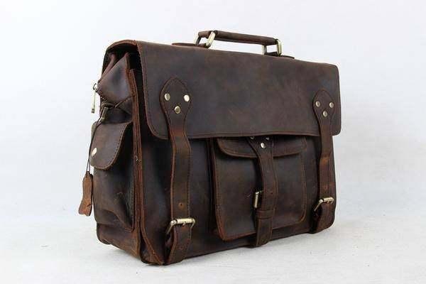 Sale, Leather Men Briefcase, Laptop Bag, Vintage CrossBody Bag, Messenger Bag image 2