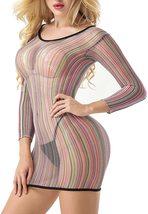Women's Mesh Lingerie Fishnet Babydoll Mini Dress image 5