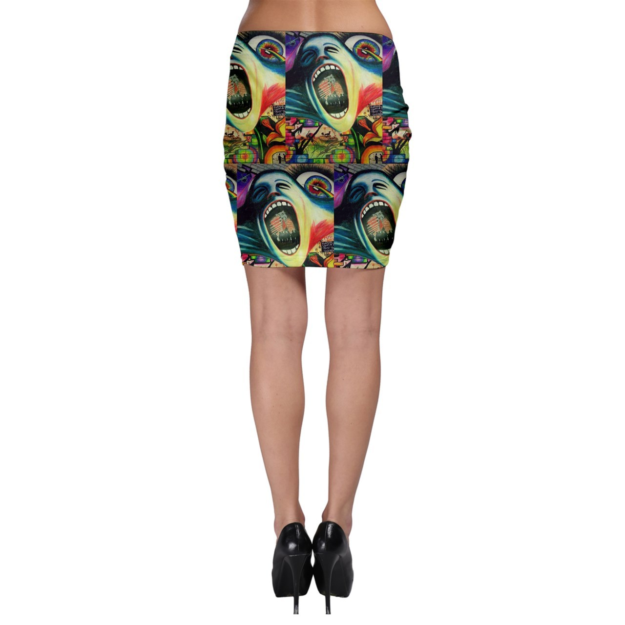 Bodycon skirt the wall screaming face
