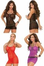 Fishnet Mini Dress & G-String Plus & One Size Adult Woman Clothing - $13.98+