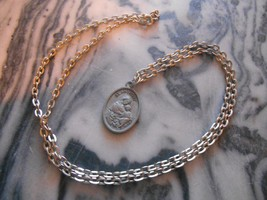Old Vintage St. Anthony Pray For Us Necklace Pendant Christian Religious... - $9.99