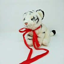"Toys ""R"" Us White Tiger Cub Plush 2015 Red Ribbon EUC - $12.16"
