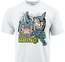 Rhino Crack Dri Fit graphic Tshirt moisture wicking superhero comic book SPF tee image 2