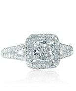 1.91 Ct Cushion Cut Diamond Engagement Ring 18k White Gold - $3,499.47