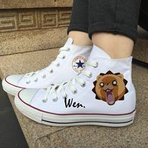 Design Anime Shoes White Converse All Star Bleach Kon Canvas Sneakers Me... - $119.00
