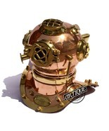 Valentine Copper Scuba Diving Helmet Divers US Mark Navy Premium Decor/G... - £37.67 GBP