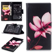 XYX Wallet Phone Case for Xperia XZ,[Lotus][Kickstand][Card Slots] Paint... - $9.88