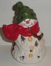 Hallmark Mitford Snowman Tealight Holder Jan Karon - $15.79