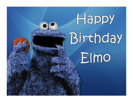 Cookie Monster edible cake image party decoration - $7.80