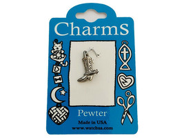 Watch Us Pewter Cowboy Boot Charm
