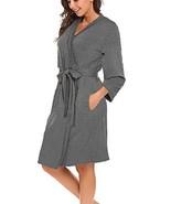 BLUETIME Women Robe Soft Kimono Robes Cotton Bathrobe Sleepwear Loungewe... - $24.95