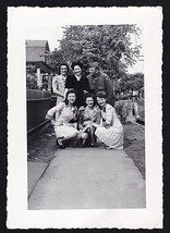Antique Vintage Photograph Group of Women With Military Man in Uniform - $5.35