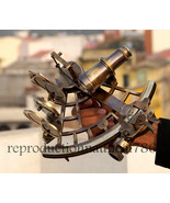 Vintage Heavy Brass Antique Sextant With Wooden Box Nautical Gifting Sex... - $499.00