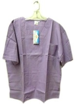 V Neck Scrubs Scrub Srivam Lilac Chest Pocket Uniform Top 3XL Unisex Ble... - $19.37