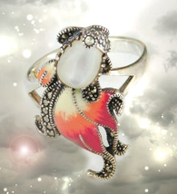 HAUNTED RING CRYSTAL FIRE CONNECT TO ALL GOLDEN ROYAL COLLECTION OOAK MA... - $444.77