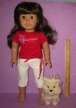 """American Girl 18"""" Truly Me Just Like You Doll #16 Dark Brunette w/ Puppy Dog image 1"""