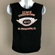 Harley Davidson Men's Cut Off Sleeve T-Shirt Size L Black DC20  - $11.87