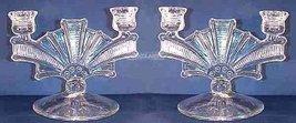 Paden City Glass Cavendish Luli Double Candlesticks - $63.00