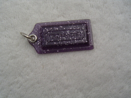 AUTHENTIC COACH  SMALL PURPLE PLASTIC WITH SILVER SPARKLES HANG TAG EUC - $12.00