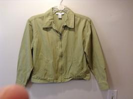 New York Jeans Med Weight Light Green Zip Up Jacket Sz M