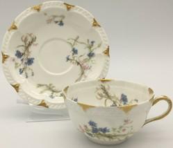 Haviland Limoges Schleiger 229A Oversized Cup & saucer - $45.00