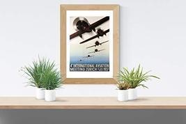 "Vintage 4th International Aviation Meeting Zurich - Art Print - 13"" x 19"" - Cust - $25.00"