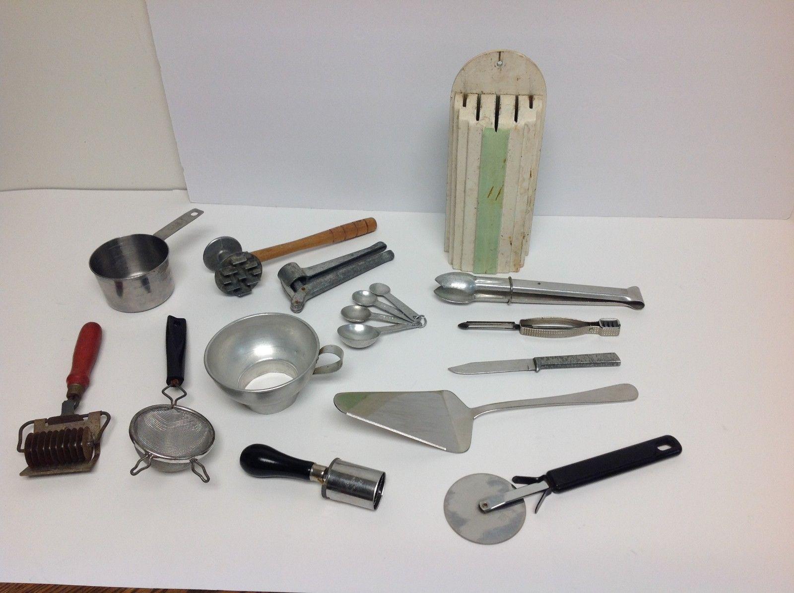 Box Lot Of 14 Vintage Kitchen Gadgets