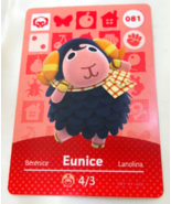 081 - Eunice - Series 1 Animal Crossing Villager Amiibo Card - $19.99