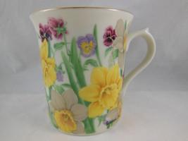 Lenox coffee tea Mug Cup Yellow daffodil flower blossom collection 1995 - $10.39