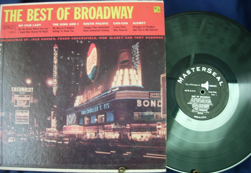 The Best of Broadway - Jack Hansen, Frank Chackfield- Masterseal Records 33-1943