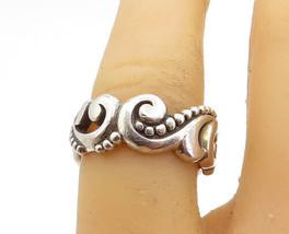 CAROLEE 925 Sterling Silver - Vintage Swirl Patterned Band Ring Sz 7 - R17694 - $31.43