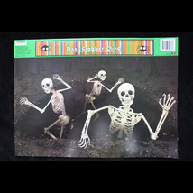 Gothic Dungeon-SKELETONS ESCAPE ATTACK-Window Cling Halloween Horror Dec... - $3.89