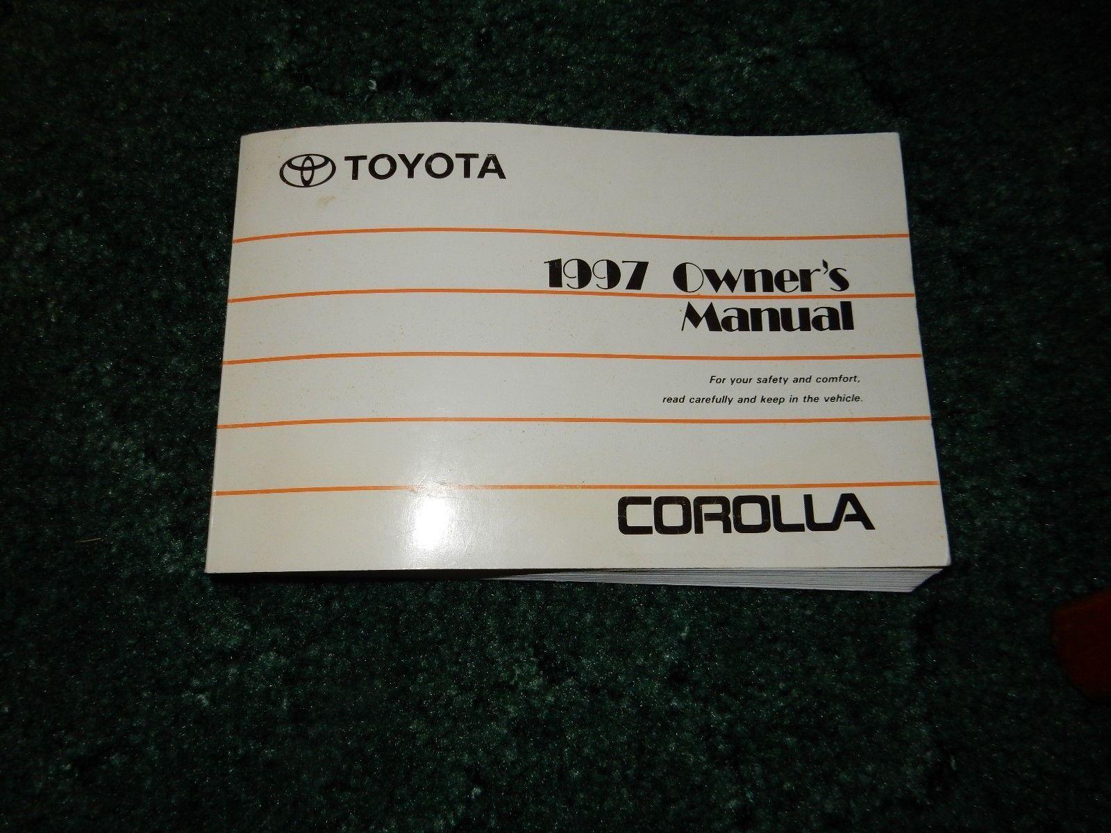 1997 Toyota Corolla Factory Original Owners Manual Part # 011999-12671