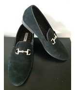 Steve Madden Loafers Dress Shoes Dressy Black Mens Slip On Suede Leather... - $59.35