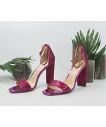 Betsey Johnson Rina Fuchsia Pink Crystal High Heels 8 NIB - $88.61