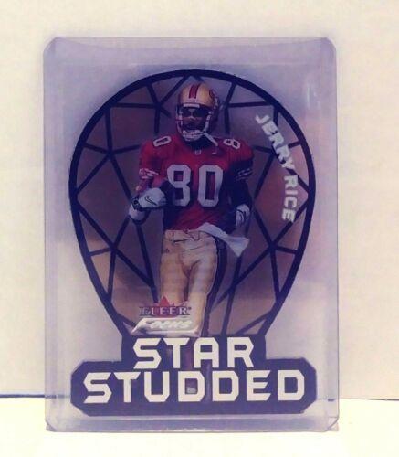 2000 Fleer Focus Star Studded Jerry Rice San Francisco 49ers Football Card