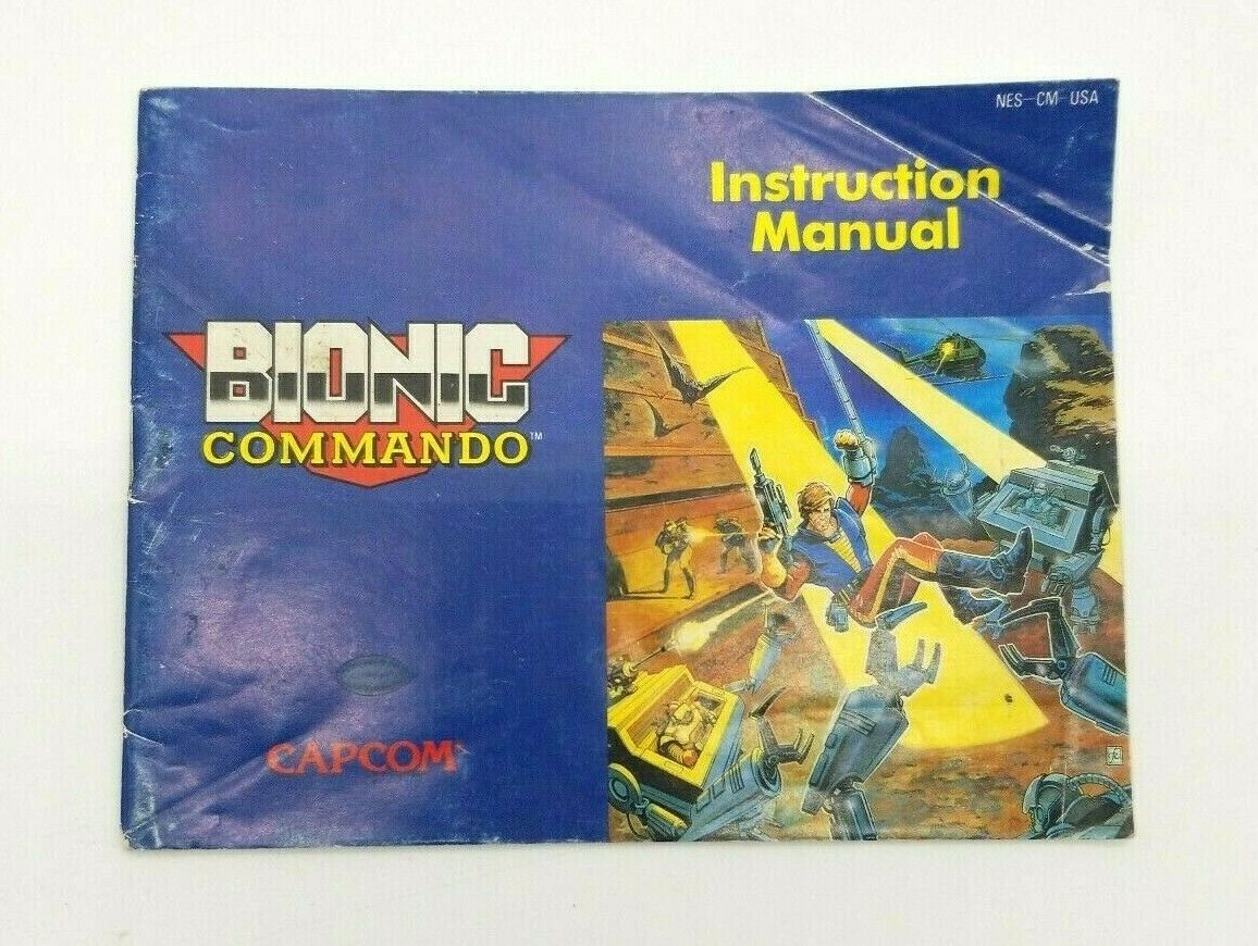 Bionic Commando Instruction Manual NES Nintendo Entertainment System