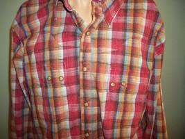 Wrangler RETRO western cowboy shirt Mens SZ 2XL Red plaid snap buttons c... - $18.51