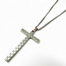 Mens Gucci Cross Necklace 925 Silver F/S - $361.57