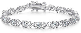 Caperci Sterling Silver Cubic Zirconia XO Tennis Bracelet for Women, 7.25'' - $124.31