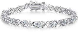 Caperci Sterling Silver Cubic Zirconia XO Tennis Bracelet for Women, 7.25'' - $124.31