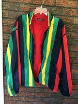 Nautica Reversible Jacket XL Red Striped Lightweight Coat Sailing Boat Vintage image 2