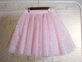 Women Mini Tutu Tulle Skirt A-line Layered Puffy Tutu Outfit Red White Pink Gray image 5