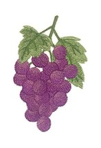 Nature Weaved in Threads, Amazing Fruits[Grapes ] [Custom and Unique] Embroidere - $12.87