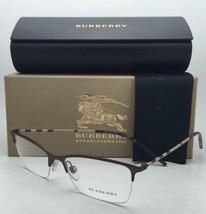 Burberry Rx-Able Semi-Rahmenlos Brille B 1278 1012 53-17 Braun & Kariert Rahmen
