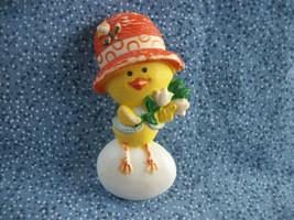 "Vintage Hallmark 1975 ""Chickery Chick"" Baby Chick on Egg Pin Plastic 2 1/4"" - $1.49"