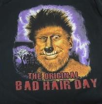 Graphic-Tee NWT Bad Hair Day Werewolf Medium Black Haunted House Scary F... - £0.73 GBP