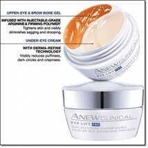 Avon Clinical Eye lift Pro Dual Eye System -Upper Eye Gel+Under Eye Cream - $11.34